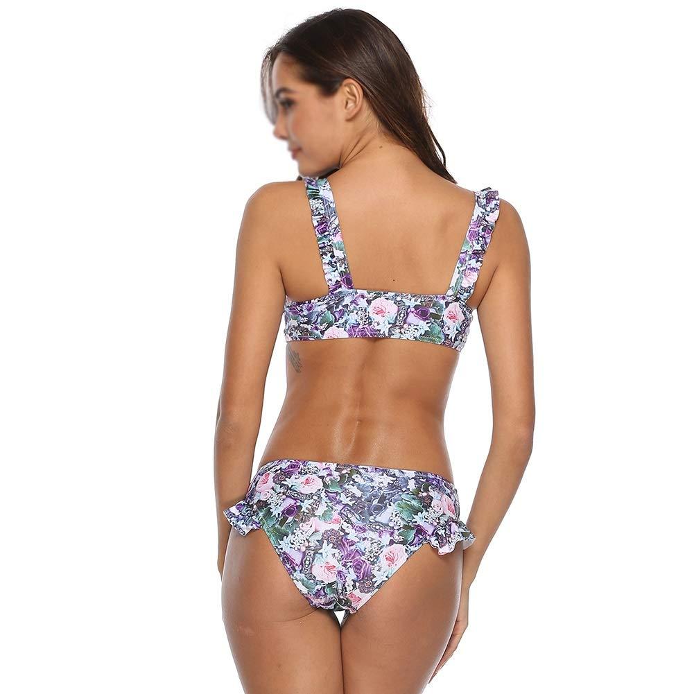 BEI-YI Bikini - Floral Print Bikini Sexy Split Split Split Bikini Lotusblatt Fliegende Bikini Flache Hose Bikini-Badeanzug -974Bikinis (größe   XL) B07PS1CVRS Bikini-Sets Wir haben von unseren Kunden Lob erhalten. 24af3c