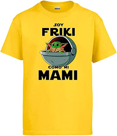 Diver Bebé Camiseta Soy Friki como mi Mami ilustración Baby Yoda: Amazon.es: Ropa y accesorios