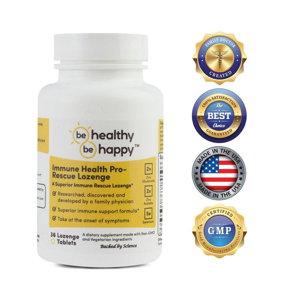 Be Healthy! Be Happy! Immune Health Pro - Rescue Lozenge Common Cold Formula