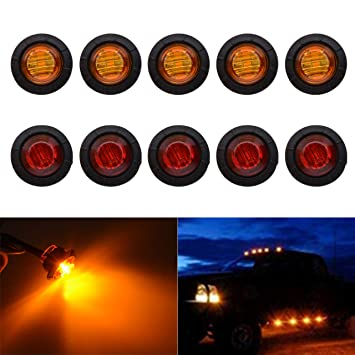 Truck Light System 10* 6 Led Car Side Marker Indicators Lamp Sign Taillights Lights Led Truck Bus Boat Light 6smd Lamp Amber Car Styling 2019 Official