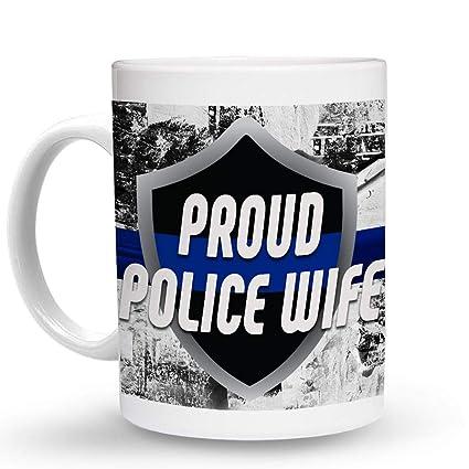 Amazon.com: Makoroni - PROUD POLICE WIFE Police Cop Cops ...