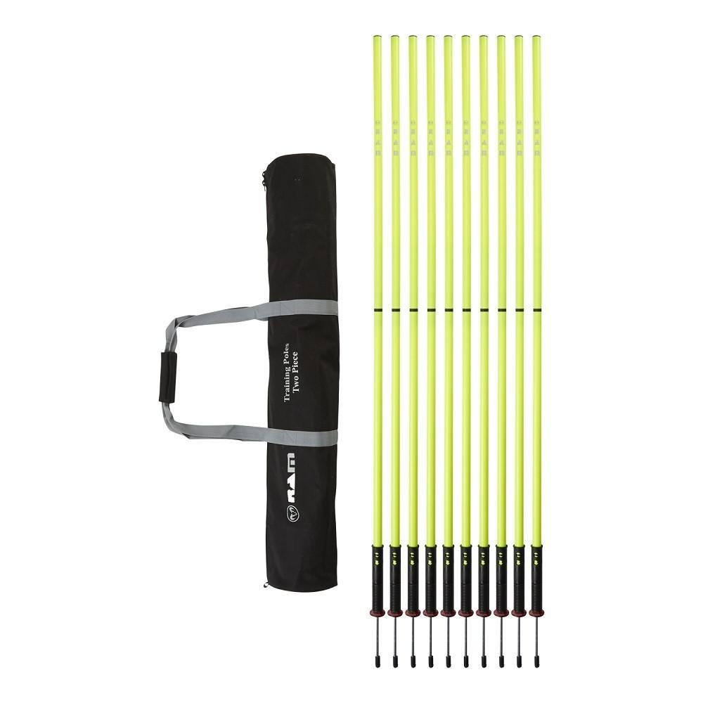 Ram Rugby Two Piece Speed and Agility Training Poles with Flexi Base - Fluorescent Yellow - 6 Feet Tall