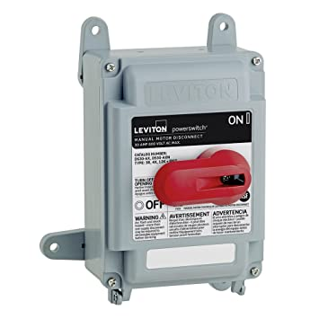 Leviton ds30 ax 30 amp 600 volt non fused powerswitch safety leviton ds30 ax 30 amp 600 volt non fused powerswitch safety disconnect sciox Gallery