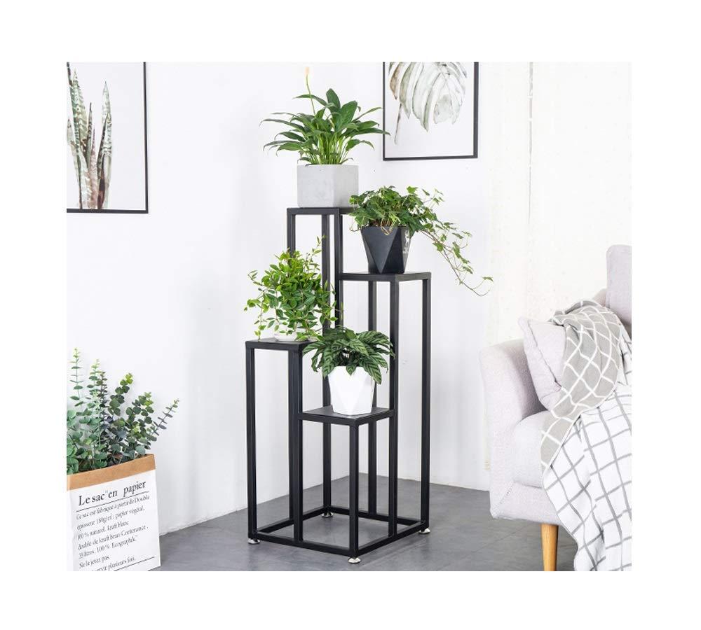 QXX Creativo Nordic Iron Frame Multi-Strato verde Pot Rack Soggiorno Balcone Simple Flower Flower Stand 102cmX40cm (colore   nero+Iron)