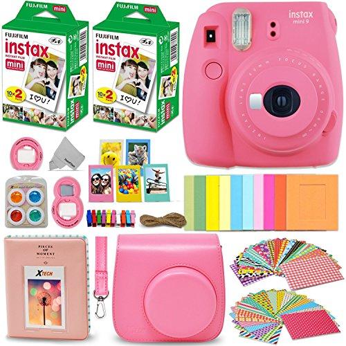 Fujifilm Instax Mini 9 Instant Camera PINK Bundle (Large Image)