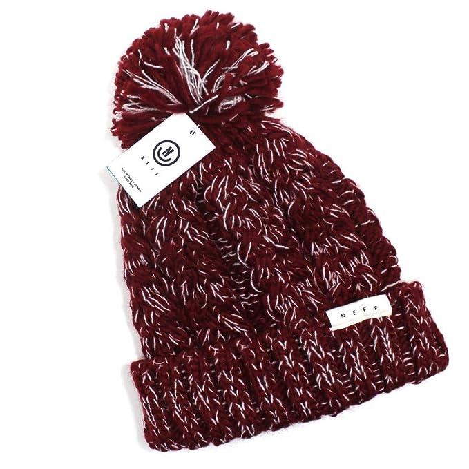 98ceac141 NWT Neff Headwear Kaycee Women's Beanie (ONE Size) Maroon/White at ...