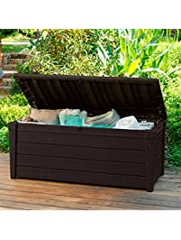Pool Deck Storage Box And Bench Is 2 In 1 Multifunctional Patio Seat Resin  UV Protected