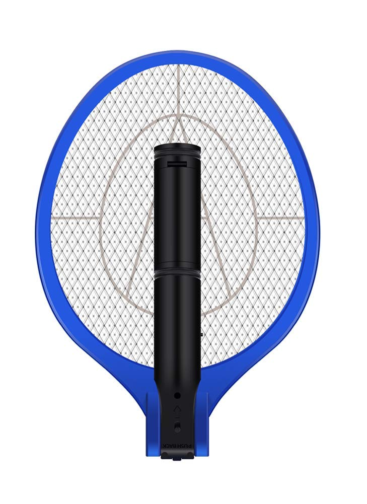 AOWOTO Plug in Electric Rechargeable Bug Zapper Mosquito Insect Fly Swatter Racket with Battery - M Size, White