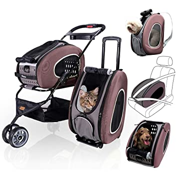 Amazon.com: ibiyaya 5 en 1 Pet Carrier + Mochila + Asiento ...
