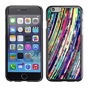 Pulsar Snap-on Series Teléfono Carcasa Funda Case Caso para Apple Iphone 6 Plus / 6S Plus ( 5.5 ) , Líneas arte vibrante colorido""