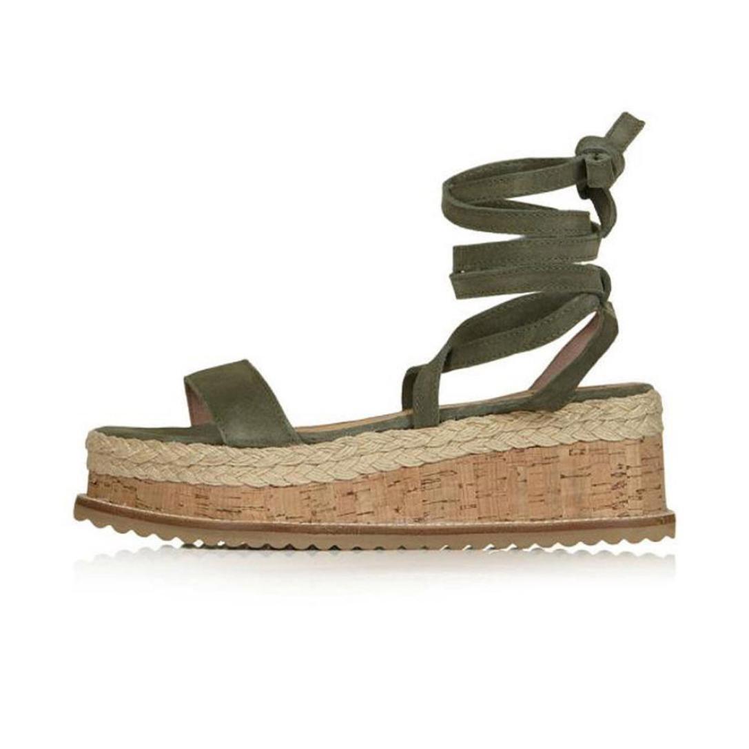 HOT Sale,AIMTOPPY Ladies Women Roman Shoes Platform Woven Thick-Bottom Waterproof Wedge Sandals (US:9, Green)
