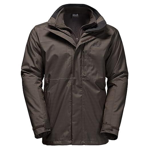 7e82c7195 Jack Wolfskin Men's Black Range 3-in-1 Jacket