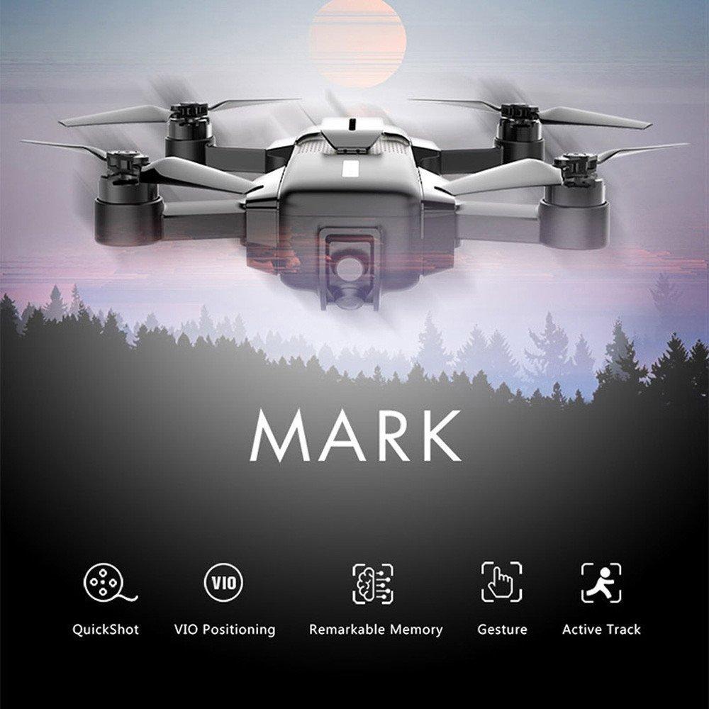 Colorful High Great Mark Faltbare Drone Quadcopter丨 Wifi FPV丨4K Kamera丨 Vio Positing 丨App-Steuerung und Remote 丨Sprachsteuerung Starten und Landen 丨Geste Kontrolle Foto Nehmen - Schwarz