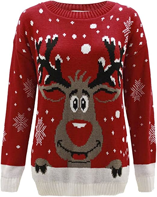 Enfant Hiver Sweat-Shirt Gar/çons Filles No/ël Pull Tricot/é Manches Longues B/éb/é Dessin anim/é Mignon Manteau Outwear