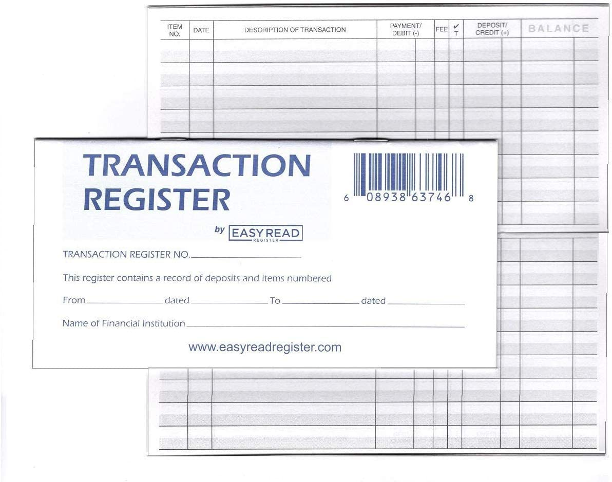 It is an image of Banking Register Printable intended for student