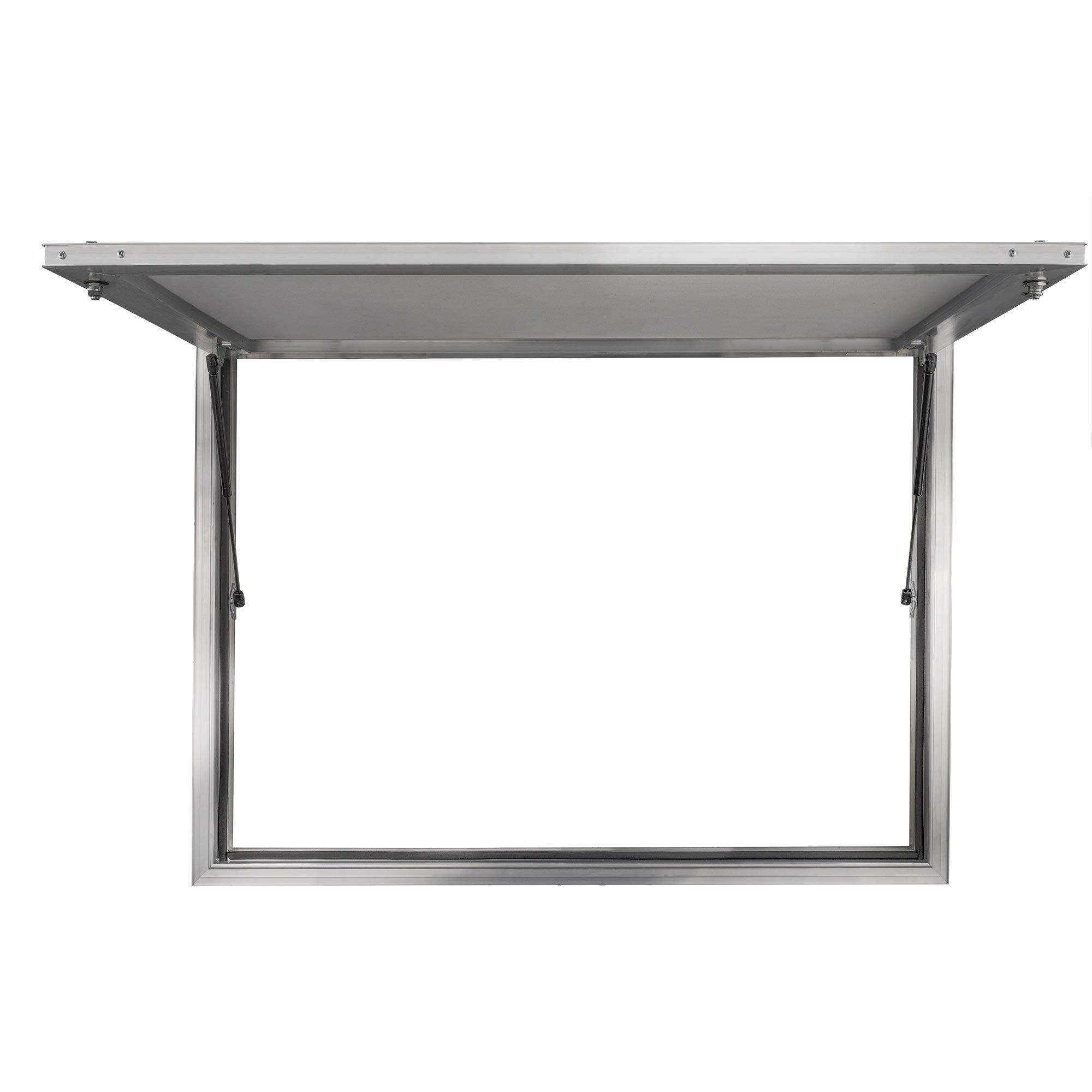 Concession Stand Serving Window Door | 36'' x 24'' Concession Awning Door for Food Trucks | Glass Not Included