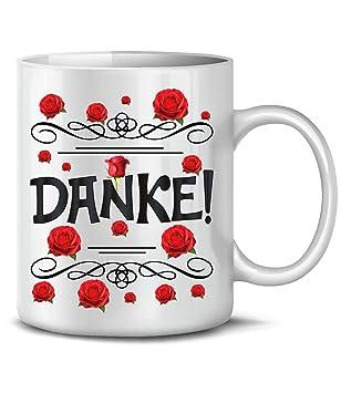 Golebros Danke 6236 Tasse Becher Kaffeetasse Lieblingstasse Dankeschön Geschenk Freundin Freundschaft Weihnachten Männer Frauen Vielen Dank Weiss