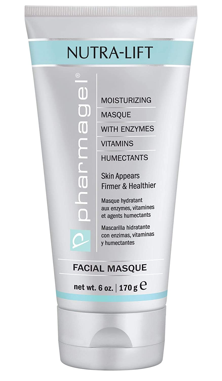 Pharmagel Nutra-Lift Facial Masque | Hydrating, Brightening, and Anti-Aging Facial Mask | Clay Mask | Face Moisturizer for All Skin Type - 6 oz.