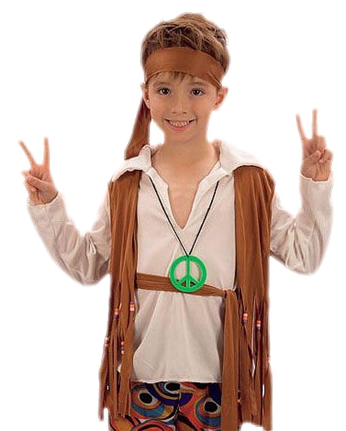 erdbeerloft - joven Carnaval Completo Disfraz hippie Niño, 122 ...