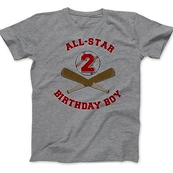 Second Birthday Shirt - Birthday Boy - All Star Baseball T-Shirt