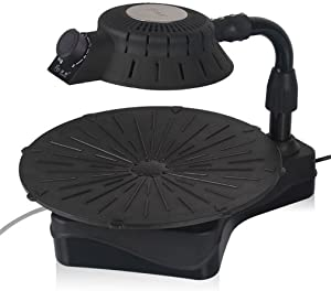 CLODY Smokeless Grill Home Easy 3D Infrared Nonstick Electric Grill Commercial Teppanyaki,Black