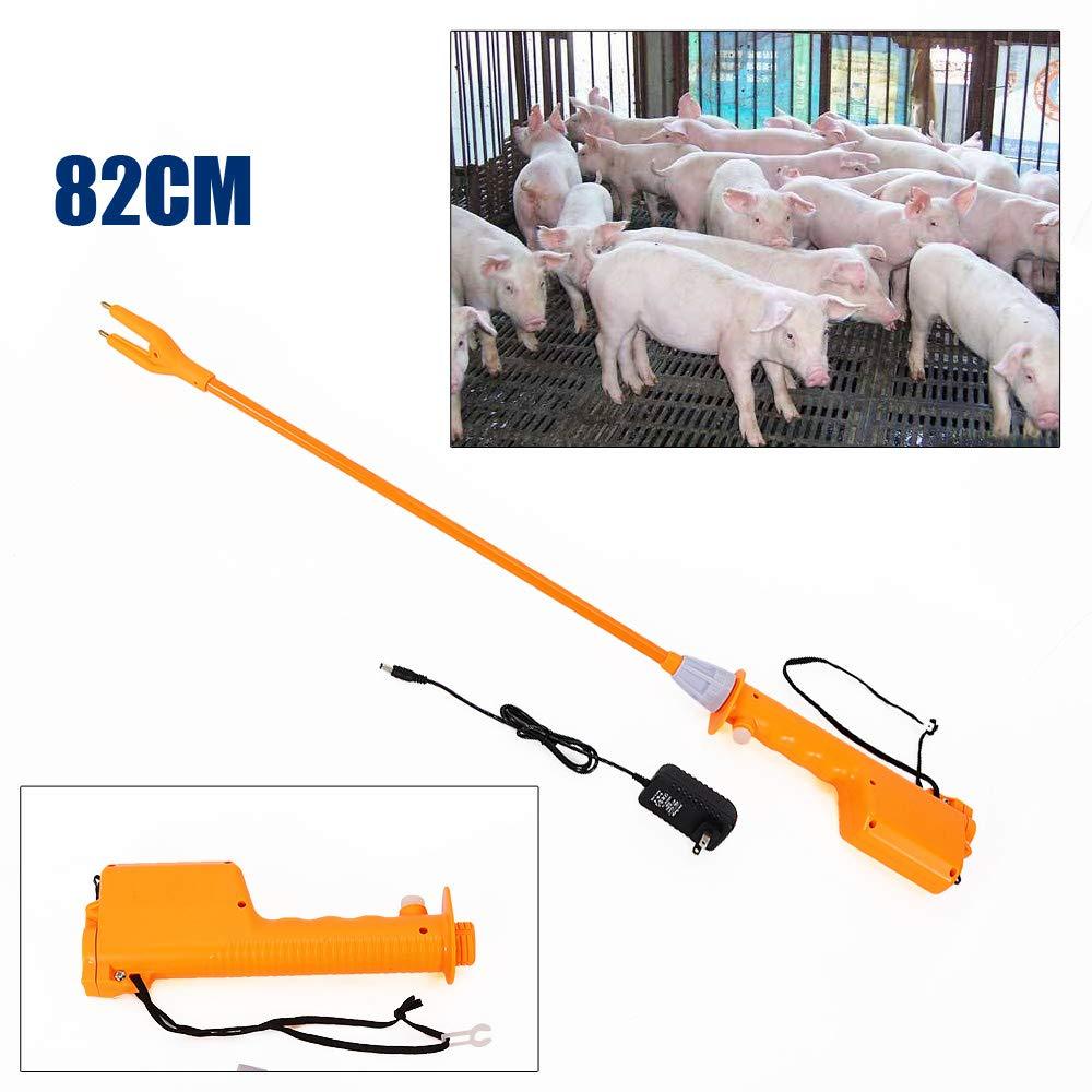 86cm Rechargeable Electric Livestock Cattle Pig Prod LED Shock Prodder Farm USA