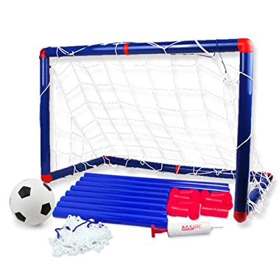 Deerbb Football Door Toy Set 60cm for Boys 3 4 5 6 Years Old, Kids Gift Age 7 8 9 10 Yr Sport Soccer Ball Goals with Net for Backyard Outside Playset Outdoor Play Toddler Girls: Sports & Outdoors