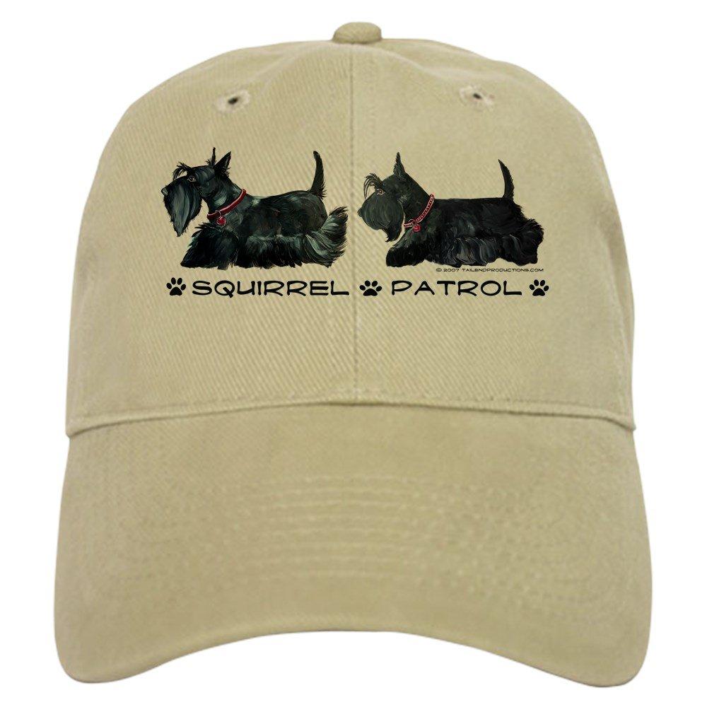 ff80105a72e42 Amazon.com  CafePress - Scottie Squirrel Patrol - Baseball Cap with  Adjustable Closure