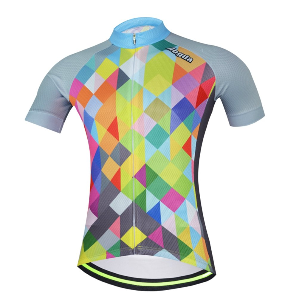 Uriah レディース 自転車半袖ジャージー 反射 B073R74FSH Chest 37.8''=Tag M|Colorful Cubes Colorful Cubes Chest 37.8''=Tag M