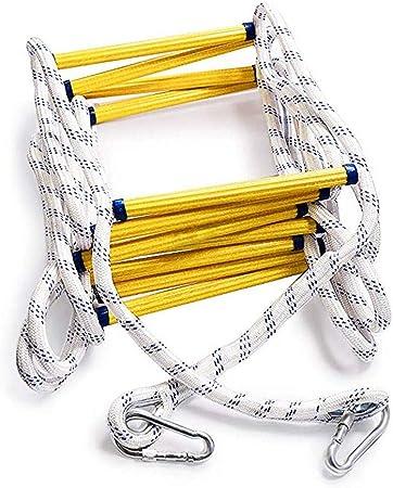 SHDT Fuego De Emergencia Escalera De Cuerda (3 Y 4 De Historia) con Ganchos, Fácil De Usar Y Almacenar, Compacto, Reutilizable Escape De Fuego Escalera De Cuerda,10M: Amazon.es: Hogar
