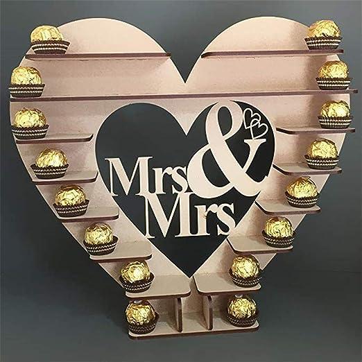 Gotian Mr & Mrs - Soporte para árbol de boda con forma de corazón para decoración de boda, regalo de chocolate para boda o compromiso: Amazon.es: Juguetes y juegos