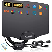 TV Antenna Indoor Digital HD by TGVi's, 2021 Newest Amplified Digital Antenna for HDTV Up to 120 Miles Range,Powerful…