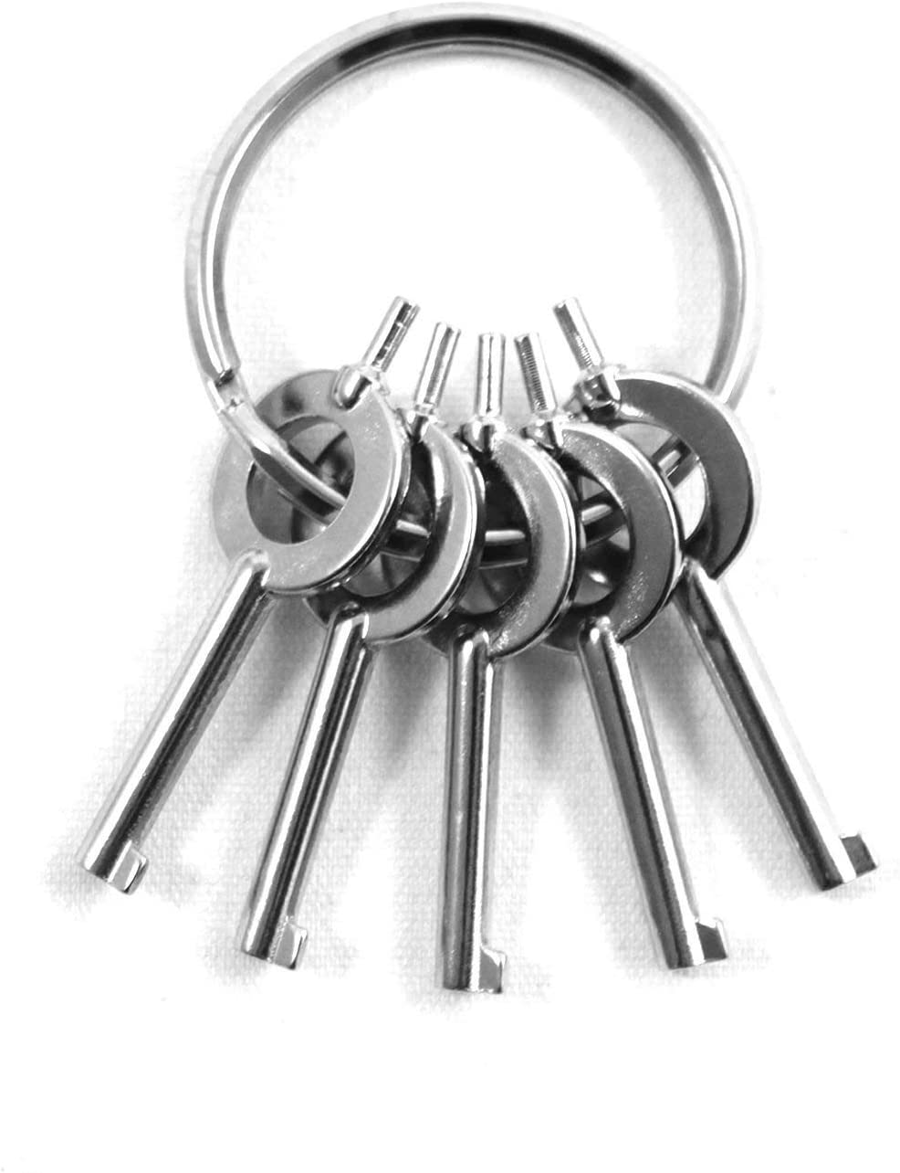 x2 Universal Police Tactical Clear Non Metallic Covert Police Handcuff Cuff Key