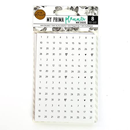 Prima marketing my prima planner embellishments mini stickers numbers and icons