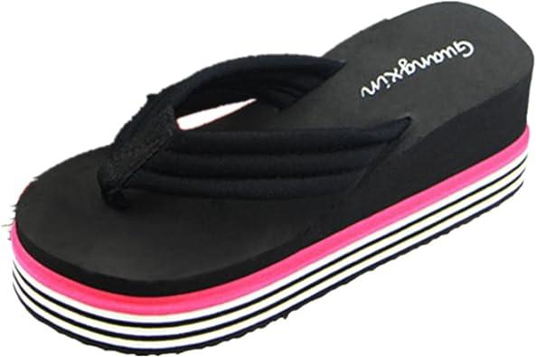 Chanclas Mujer Plataforma Gruesa, Culater Sandalias de Verano Zapatillas de Interior al Aire Libre Zapatos de Playa: Amazon.es: Zapatos y complementos