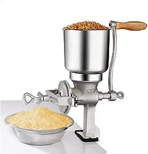 SKEMIX Grinder Corn Coffee Food Wheat Manual Hand Grains Iron Nut Mill Crank Cast