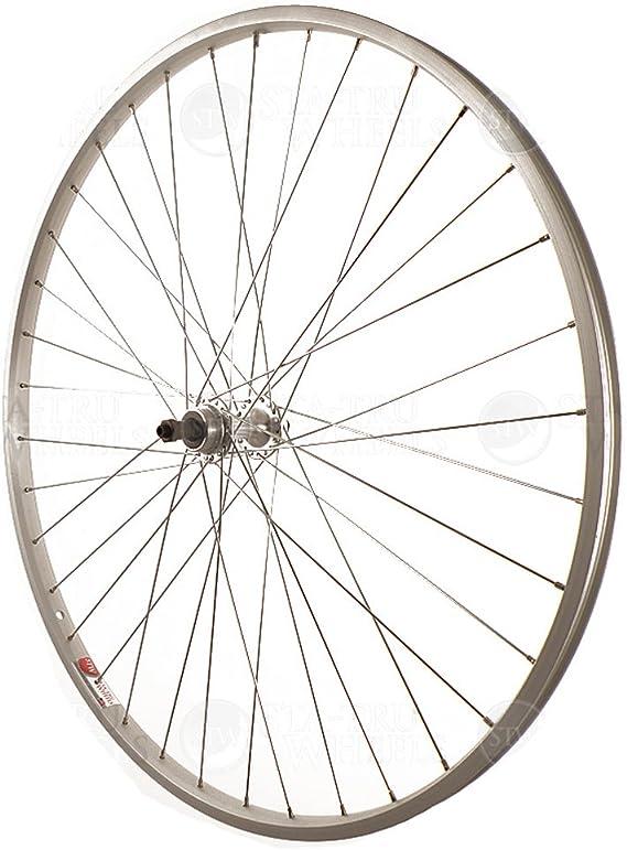 Sta Tru Silver Alloy Freewheel Hub Rear Wheel (27X1 ¼-Inch)