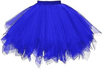 Lenfesh Mini Falda De Ballet Skirt, Mujer Adultos Colores Faldas De Tul Cortas Tutú CláSica De Ballet para Disfraz Fiesta