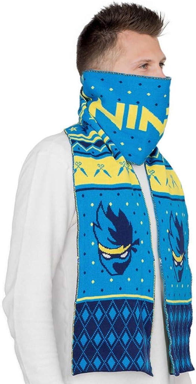 Ninja Video Game Streamer Scarf (Blue) at Amazon Mens ...