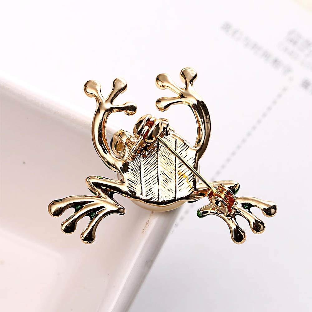 REYOK Broche de la Boda de la 4 Pcs Broche-Accesorios de Ropa Broche de Esmalte Pin Insignia Mujeres joyer/ía de la Rana Linda