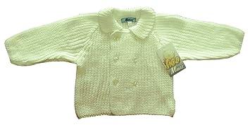 CHAQUETA BEBE NIÑO/NIÑA PUNTO INGLES (beige, 3-6 meses)