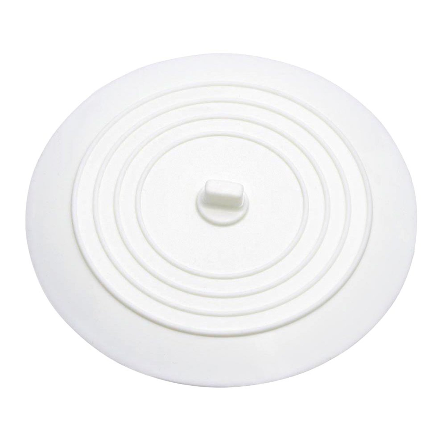 Mudder Silicone Tub Stopper Drain Plug For Kitchens, Bathrooms And  Laundries 6 Inches (White)