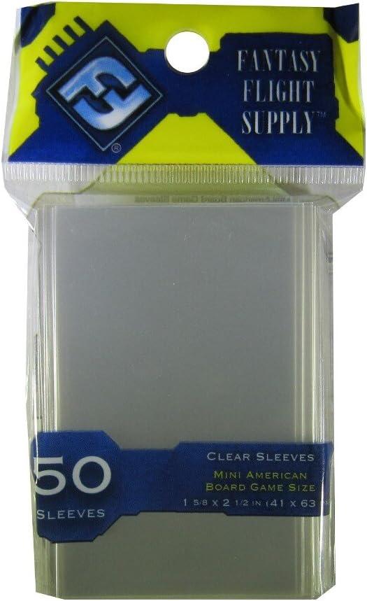 Mini European Board Game Size Clear FFG Card Protectio Card Sleeves 5 MINT