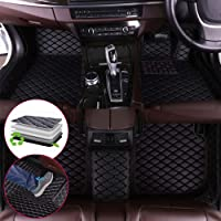 Maite Fit for MITSUBISHI Eclipse cross 2017-2019 Right drive Custom Car Floor Mats Full Covered Leather Front & Rear Waterproof Car Carpet FloorLiner Floor Mat