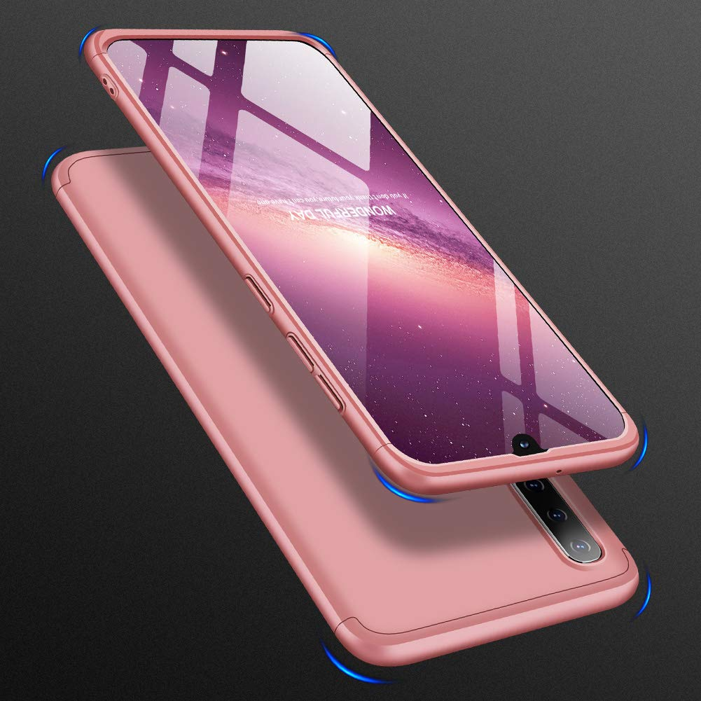 Mybloo Case for Samsung Galaxy A50 Case, [3 in 1] 360 Degrees Full Body Protection,[Anti-Scratch] [Shockproof] Matte Ultra Slim PC Hard Case for ...
