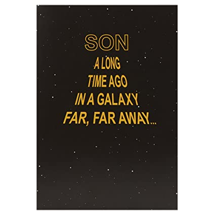 Amazon.com : Hallmark Star Wars Birthday Sound Card for Son ...