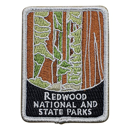 Redwood National and State Parks Patch - Giant Redwoods, Sequoia Semperviren, California (Iron on) (Parka Redwood)