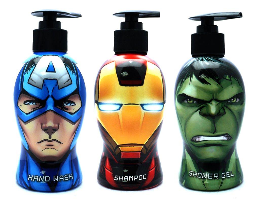 Marvel Action Heroes Bath Set   The Hulk Shower Gel, Captain America  Handwash U0026 Iron Man Shampoo: Amazon.co.uk: Health U0026 Personal Care