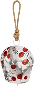 Evergreen Garden Beautiful Decorative Winter Berries Printed Metal Bell Wind Chime - 6 x 6 x 18 Inches Fade and Weather Resistant Indoor/Outdoor Decoration for Homes, Yards and Gardens