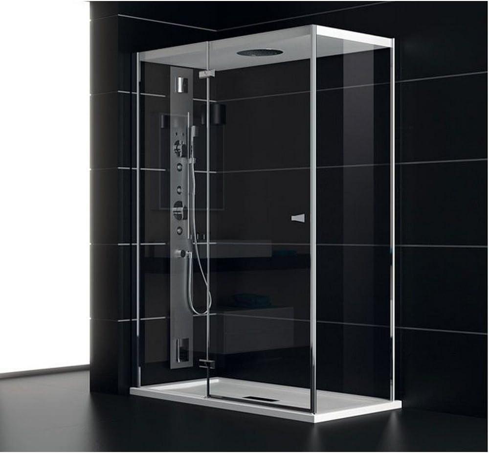 TEUCO Box ducha puerta batiente 120 x 80 cm NC8B6 sombrero: Amazon ...